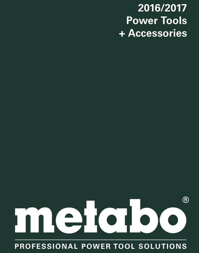 Metabo Power Tools & Accessories 2016-17