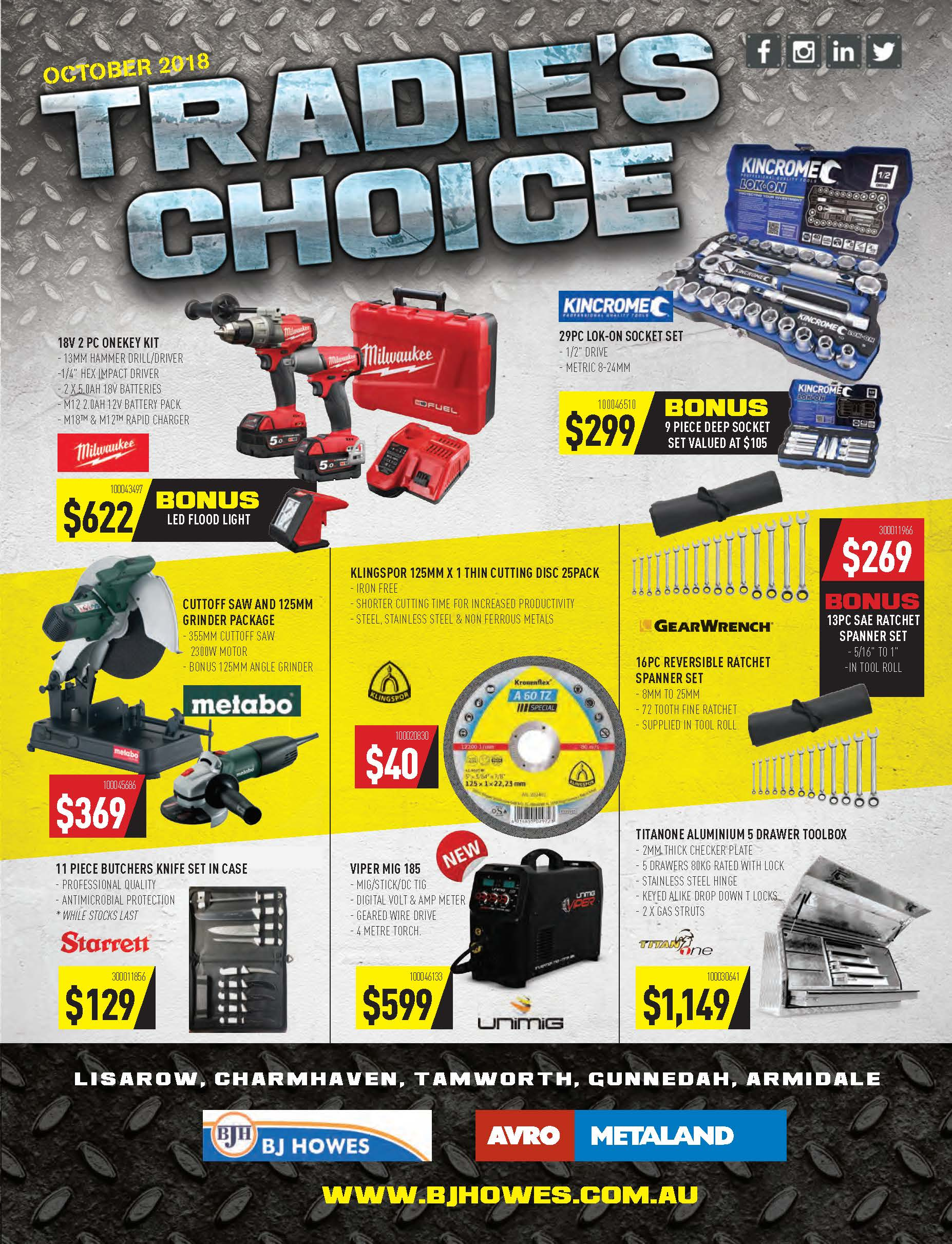 Tradie's Choice Catalogue Oct 2018