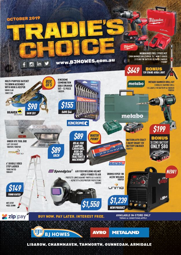 Tradie's Choice Catalogue Oct 2019