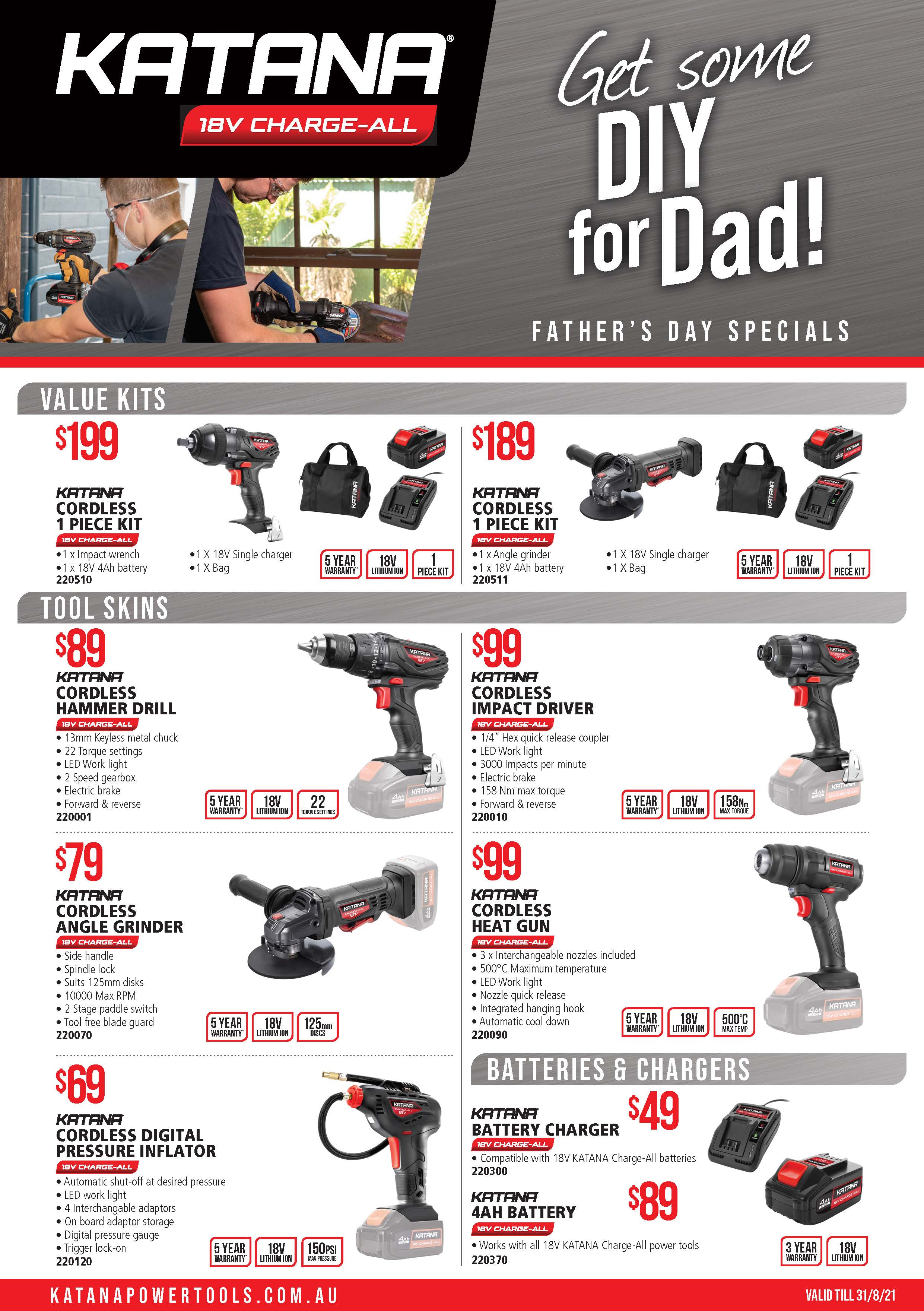 Kincrome Dad's Day Gift Ideas